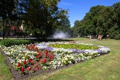 City Park, Ventspils, Latvia. Ventspils, Latvia City park with big flowerbed Stock Photos
