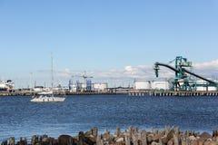 Ventspils port cargo Stock Photo