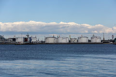 Ventspils port cargo Royalty Free Stock Images
