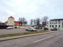 Ventspils town street , Latvia Stock Images