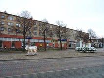 Ventspils town street , Latvia Stock Photo