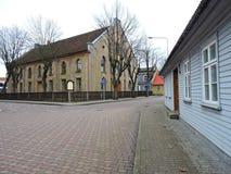 Ventspils town street , Latvia Royalty Free Stock Photos