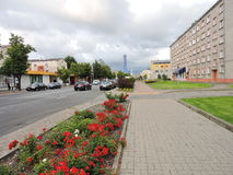 Ventspils town street , Latvia Royalty Free Stock Photography