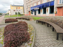Ventspils town street , Latvia Stock Image