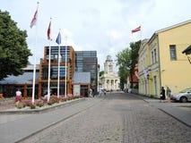 Ventspils town street , Latvia Stock Photos