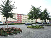 Ventspils town street , Latvia Royalty Free Stock Images
