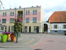 Ventspils town street , Latvia Royalty Free Stock Image