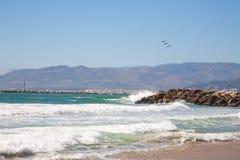 Ventura. Historic pier, South California Royalty Free Stock Image