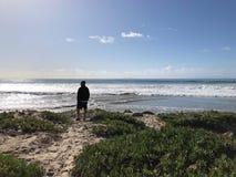 Ventura Beach-mens stock afbeeldingen