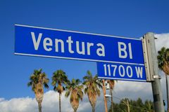 Ventura Boulevard Sign Royalty Free Stock Images