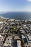 Ventura California Aerial van de binnenstad stock afbeeldingen