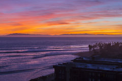 Ventura California Pacific Sunset Stock Photo