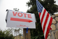 Ventura County, California Citizens Turn Out to Vote Royalty Free Stock Images