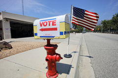 Ventura County, California Citizens Turn Out to Vote Royalty Free Stock Photo