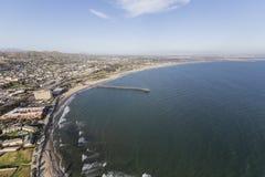 Ventura County Coast Aerial in California Royalty Free Stock Photo