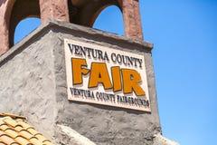 Ventura County Fair. Sign for the Ventura County Fair Stock Photography