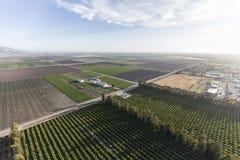Ventura County Farm Fields Aerial Fotografía de archivo libre de regalías