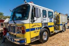 Ventura County Fire Dept lastbil, Moorpark Kalifornien arkivbild