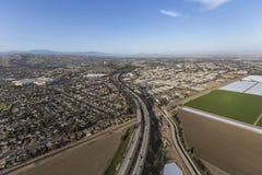 Ventura County Freeway Aerial Freeway Royalty Free Stock Photo