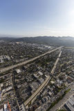 Ventura Freeway Glendale California Aerial Photo stock