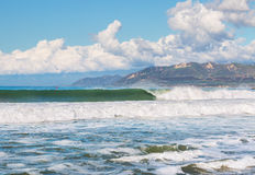 Ventura Harbor Surf Stockbild