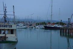 Ventura Harbor, pleasure and work boats. stock image