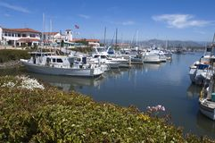 Ventura Harbor Village. Fishing and Pleasure boat harbor at Ventura, California Royalty Free Stock Photos