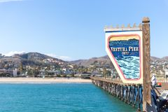 Ventura Historic Pier wooden sign in Los Angeles, USA. Ventura Historic Pier wooden sign in Los Angeles USA royalty free stock images