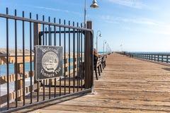 Ventura Historic Pier wooden sign in Los Angeles, USA. Ventura Historic Pier wooden sign in Los Angeles USA royalty free stock photos