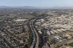 Ventura 101 motorväg i Ventura California Fotografering för Bildbyråer