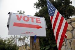 Ventura okręgu administracyjnego, Kalifornia mieszkaniec frekwencja głosowanie Obrazy Royalty Free