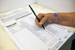 Ventura okręgu administracyjnego, Kalifornia mieszkaniec frekwencja głosowanie Obrazy Stock