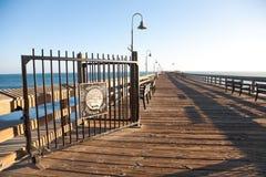 Ventura Pier. City of San Buenaventura in South California Royalty Free Stock Images