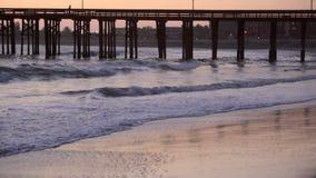 Ventura Pier in California at sunset stock footage