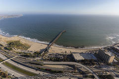 Ventura Pier and Freeway in Southern California Stock Photo