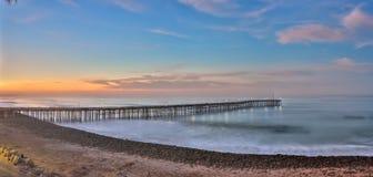 Ventura pier panorama Royalty Free Stock Photos