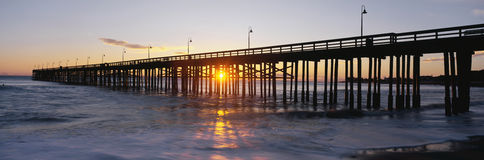 Ventura Pier at sunset. Royalty Free Stock Photo