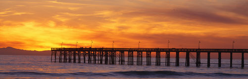 Ventura Pier at sunset. Royalty Free Stock Image