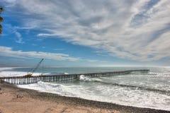 Ventura pier under repair Stock Images