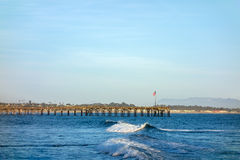 Ventura Wooden Pier Royalty Free Stock Photography