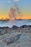 Ventura wschód słońca za od fala Zdjęcie Royalty Free