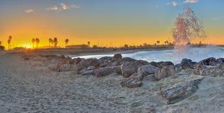 Ventura wschód słońca za od jetty Fotografia Royalty Free