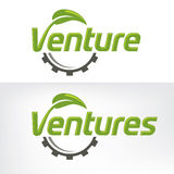 Venture. An artistic font for business ventures Royalty Free Stock Photography