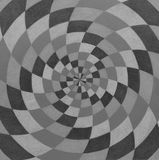 Venture In. A black and white image of blocks spiralling to the center of the image Stock Image