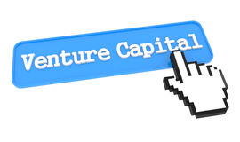 Venture Capital Button with Hand Cursor. Business Concept Royalty Free Stock Image