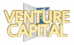 Venture Capital Door Opening. Find Funding Financing 3d Illustration Royalty Free Stock Images