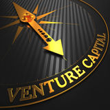 Venture Capital - Golden Compass Needle. Stock Image