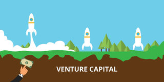 Venture capital launch their startup Stock Photos