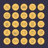 Venture capital line icons set Royalty Free Stock Image
