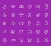 Venture capital, start-up, forex, hedge fund. Venture capital, investments, start-up, forex, hedge fund, financing icons set, linear style Royalty Free Stock Images